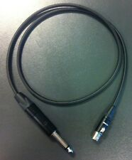 Shure PGX GLX SLX ULX guitar wireless CUSTOM UPGRADE CABLE Mogami+Neutrik WA302