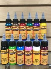 Eternal Tattoo Ink 12 Color Hot Colors Professional Set 1 Ounce 100% Authentic