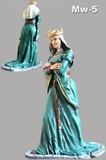Queen Eleanor Painted Medieval 1/32 Female Civilian Army Toy Soldier 54mm