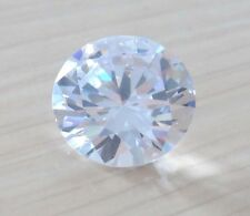 Brilliant 4.79ct AAA Natural White Zircon Diamonds Round Cut 9mm VVS Loose Gem