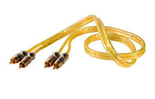 Power Pro Audio 12 Feet 2-RCA Male to 2-RCA Male Audio Cable Translucent Yellow