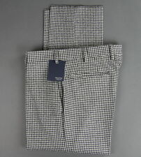 New Incotex Wool Flat Front Dress Pants Slim Size 34 (50 EU) NWT