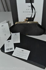 NEW AUTHENTIC ANYA HINDMARCH MAUD BLACK Celebrity  Clutch Bag  £475 Boxed GIFT