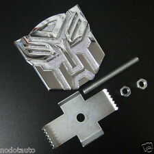 Car Transformers Autobot Metal Front Grill Grille Fender Hood Emblem Badge