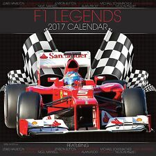 Formula One (F1) Legends Calendar 2017 with free pull out poster