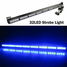 "35.5"" 32LED BLUE LED TRAFFIC ADVISOR EMERGENCY WARNING FLASH STROBE LIGHT BAR"
