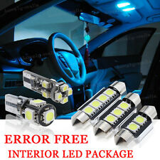9x Bulbs For Audi A4 A6 B7 2000-08 INTERIOR PACKAGE XENON ICE BLUE LED LIGHT KIT