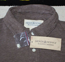 $49.50 NEW Denim & Supply Polo Shirt Brown MEN'S 2XL XXL Ralph Lauren RL FLAG