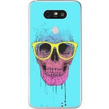 Coque Housse Etui LG G5 à motif en Silicone Gel qualité FR - B.S(Skull glasses)