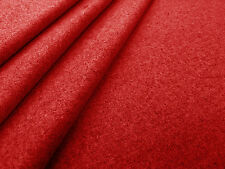PLAIN POLY WOOL SUITING RED C111 DRESS DRESSMAKING CRAFT FABRIC P~M SUIT