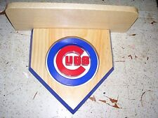 Bobble heads Cubs home plate display shelf