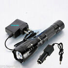2200LM CREE XM-L T6 LED Rechargeable Flashlight Torch Lamp with Battery Charger