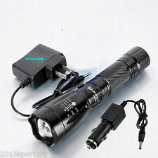 4000LM CREE XM-L T6 LED Rechargeable Flashlight Torch Lamp with Battery Charger