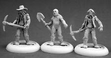 Zombie Miners (3) 50317 - Chronoscope - Reaper MiniaturesD&D Wargames