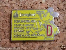 DISNEY PIN- Coupon Mickey/D Ticket (Tomorrowland)
