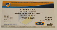 Ticket for collectors CL APOEL Nicosia HJK Helsinki 2014 Cyprus Finland