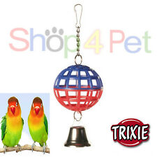 TRIXIE HANGING LATTICE BALL & BELL VARIOUS COLOURS*  BUDGIE, CANARY, SMALL BIRDS