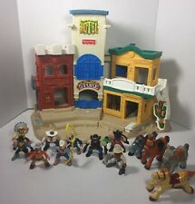 Fisher Price 77052 Great Adventure Wild Western Town Cowboys Indians Horses Lot