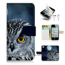 iPhone 5 5S Print Flip Wallet Case Cover! Owl P1491