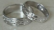 14k White Gold Matching Wedding Bands  Size 7 10