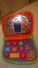 FISHER PRICE LAUGH AND LEARN SMART SCREEN LAPTOP ABC'S, #'S , SHAPES, BILINGUAL