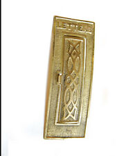 30% OFF - Antique Vertical Ornate Brass Mail Letter Slot, Curved or Arced, E1262