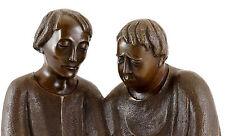 Scultura in bronzo-monaci leggere (1932) - Firmato Ernst Paola