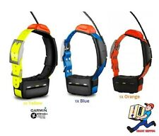 4 x Garmin® T5 Dog Tracking Collars [ORANGE ,YELLOW & BLUE]: USED/NOT TESTED