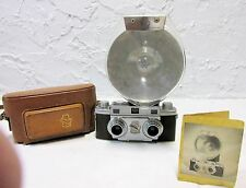VINTAGE 1950s REVERE STEREO 33 CAMERA WITH FLASH & BULB & CASE
