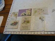 vintage used old cards: 6 OLD easter cards, 1920's