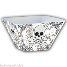 "Halloween Horror 10"" Plastic Elegant Gothic Poison Party Square Treat Bowl"