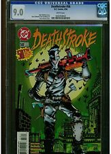 DEATHSTROKE #58 CGC 9.0 1996 DC COMICS ORIGINAL COPY FIRST PRINT WHITE PAGES HTF
