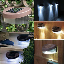 SOLAR POWERED DOOR / FENCE / WALL LIGHTS LED OUTDOOR GARDEN LIGHTING BRIGHT KEk#