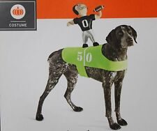 FOOTBALL PLAYER DOG COSTUME Large XL Sports Rider Stuffed Quarterback Funny NEW