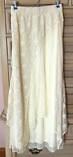 NWT Chico's MIXED LACE MAXI SKIRT Size 2 M 12 14 MSRP $88 Ivory / Ecru