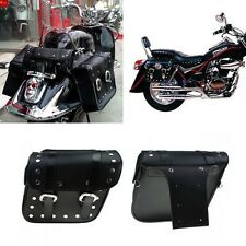 2x Motorcycle Motorbike For Harley Black Saddlebags Saddle Bags Pannier Pouch