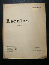 Partition Escales ... Jacques Ibert Hautbois N°2 1922 Music Sheet