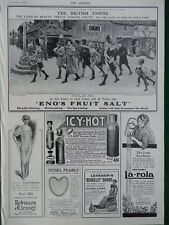 1915 ADVERTS ENO'S FRUIT SALT, ICY-HOT VACUUM FLASK, SESSEL PEARLS VOGUE WW1 WWI