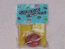 NOVELTY ERASER/RUBBER BASEBALL BOOTS /SHOES & BALL IN SEALED WRAPPER RETRO 1980s