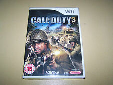Call Of duty 3 Wii **New & Sealed**