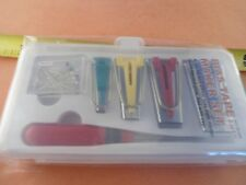 BOX of 4 Sizes BINDER BIAS TAPE MAKERS, AWL, PIN SET for SEWING QUILTING