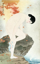 Japanese Woodblock Bathroom Bath Decor Poster Print Shinsui Ito 11x17 repro