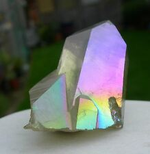 LIGHT GREEN PARADISE AURA QUARTZ CRYSTAL CLUSTER - NEW AURA - 39.6gr