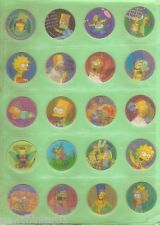 #T39. SET OF 40 THE SIMPSON  TV HOLOGRAM TAZOS