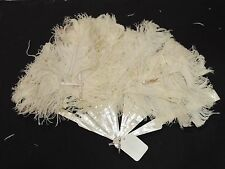 Victorian Mother of Pearl and Ostrich Feather Fan