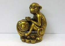 Feng Shui - 2017 Brass Monkey on Ruyi Figurine