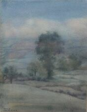 Mercy Creed. Fine early 20th century landscape watercolour painting. Atmospheric