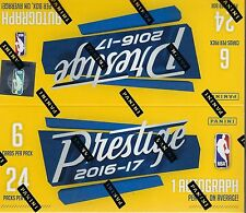 2016-17 Panini PRESTIGE Basketball NBA Trading Cards 144ct. Retail Box = Autos?