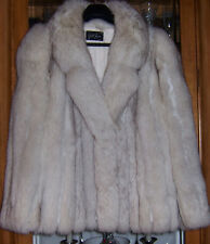 Extra Large XL White Fox Fur Coat Excellent Condition