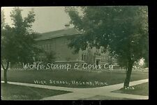 1923 RPPC High School Wadena MN  Real Photo Postcard  B709